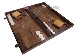 picture of Walnut Backgammon Set with Inlaid Bronze and Natural Mother of Pearl - Apollo (2 of 11)