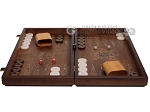 picture of Walnut Backgammon Set with Inlaid Bronze and Natural Mother of Pearl - Apollo (4 of 10)