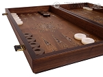 picture of Walnut Backgammon Set with Inlaid Bronze and Natural Mother of Pearl - Apollo (5 of 11)