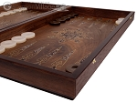 picture of Walnut Backgammon Set with Inlaid Bronze and Natural Mother of Pearl - Apollo (6 of 10)