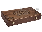 picture of Walnut Backgammon Set with Inlaid Bronze and Natural Mother of Pearl - Apollo (10 of 10)