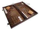picture of Walnut Backgammon Set with Inlaid Bronze and Natural Mother of Pearl - Athena (2 of 10)