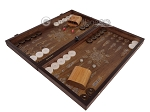 picture of Walnut Backgammon Set with Inlaid Bronze and Natural Mother of Pearl - Athena (3 of 10)