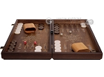 picture of Walnut Backgammon Set with Inlaid Bronze and Natural Mother of Pearl - Athena (4 of 11)
