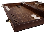 picture of Walnut Backgammon Set with Inlaid Bronze and Natural Mother of Pearl - Athena (5 of 10)