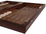 picture of Walnut Backgammon Set with Inlaid Bronze and Natural Mother of Pearl - Athena (6 of 11)