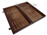 picture of Walnut Backgammon Set with Inlaid Bronze and Natural Mother of Pearl - Athena (8 of 10)