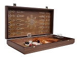 picture of Walnut Backgammon Set with Inlaid Bronze and Natural Mother of Pearl - Athena (9 of 11)