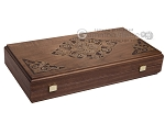 picture of Walnut Backgammon Set with Inlaid Bronze and Natural Mother of Pearl - Athena (10 of 10)