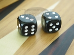 1/2 in. Rounded High Gloss Flecked Dice - Black (1 pair) - Item: 1784