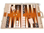 Marcello de Modena™ Leather Backgammon Set - Model MM-121 - Large - Croco Beige - Item: 4031