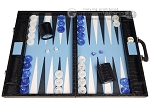 Marcello de Modena™ Leather Backgammon Set - Model MM-135 - Large - Croco Midnight Blue - Item: 4033