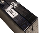 Marcello de Modena™ Leather Backgammon Set - Model MM-135 - Large - Croco Midnight Blue