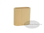 Wood Backgammon Dice Cup - Oval - Beechwood - Pair in polybag - Item: 2981