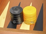 picture of Backgammon Checkers - High Gloss Acrylic - Black & Yellow (1 1/2in. Dia.) - Set of 30 (2 of 3)