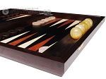 picture of Palisander Backgammon Set with Racks - Beveled Edge (6 of 12)