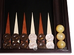 picture of Palisander Backgammon Set with Racks - Beveled Edge (8 of 12)