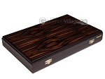 Palisander Backgammon Set with Racks - Beveled Edge - Item: 2960