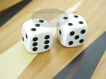 1-1/4 in. Rounded Solid Dice - White (1 pair)