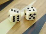 3/8 in. Rounded High Gloss Solid Dice - Ivory (1 pair) - Item: 3194
