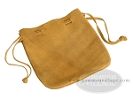 Suede Dice Bag - (7 in. x 8 in.) - Brown - Item: 1765