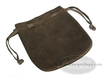 Suede Dice Bag - (7 in. x 8 in.) - Cocoa - Item: 1764