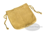 Suede Dice Bag - (7 in. x 8 in.) - Tan