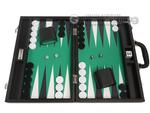 16-inch Premium Backgammon Set - Black with White and Black Points