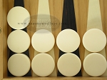 Backgammon Checkers - Plastic - Ivory (1 in. Dia.) - Roll of 15 - Item: 1694