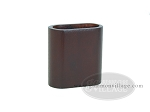 Wood Backgammon Dice Cup - Oval - Mahogany - Item: 1879