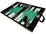 picture of Wycliffe Brothers® Tournament Backgammon Set - Black with Green Field - Gen III (3 of 12)