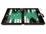 picture of Wycliffe Brothers® Tournament Backgammon Set - Black with Green Field - Gen III (4 of 12)