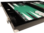 picture of Wycliffe Brothers® Tournament Backgammon Set - Black with Green Field - Gen III (5 of 12)