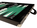 picture of Wycliffe Brothers® Tournament Backgammon Set - Black with Green Field - Gen III (6 of 12)
