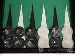 picture of Wycliffe Brothers® Tournament Backgammon Set - Black with Green Field - Gen III (8 of 12)