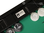 Wycliffe Brothers® Tournament Backgammon Set - Black with Green Field - Gen III