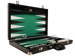 picture of Wycliffe Brothers® Tournament Backgammon Set - Black with Green Field - Gen III (10 of 12)