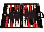 Wycliffe Brothers® Tournament Backgammon Set - Black with Black Field - Gen III
