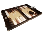 picture of Wycliffe Brothers® Tournament Backgammon Set - Brown Croco with Beige Field - Gen III (2 of 12)
