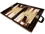 picture of Wycliffe Brothers® Tournament Backgammon Set - Brown Croco with Beige Field - Gen III (3 of 12)