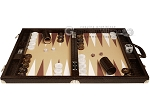 picture of Wycliffe Brothers® Tournament Backgammon Set - Brown Croco with Beige Field - Gen III (4 of 12)