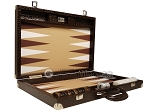 picture of Wycliffe Brothers® Tournament Backgammon Set - Brown Croco with Beige Field - Gen III (10 of 12)