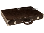 picture of Wycliffe Brothers® Tournament Backgammon Set - Brown Croco with Beige Field - Gen III (11 of 12)