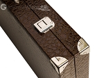 picture of Wycliffe Brothers® Tournament Backgammon Set - Brown Croco with Beige Field - Gen III (12 of 12)
