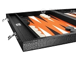 picture of Wycliffe Brothers® Tournament Backgammon Set - Black Croco (5 of 12)