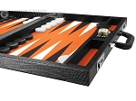 picture of Wycliffe Brothers Tournament Backgammon Set - Black Croco (6 of 12)