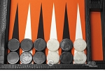 picture of Wycliffe Brothers Tournament Backgammon Set - Black Croco (7 of 12)