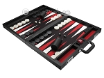 picture of Wycliffe Brothers® Tournament Backgammon Set - Black with Black Field - Gen I (3 of 12)