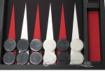 picture of Wycliffe Brothers® Tournament Backgammon Set - Black with Black Field - Gen I (7 of 12)