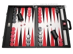Wycliffe Brothers® Tournament Backgammon Set - Black-Grey